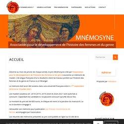 Accueil - Mnémosyne - Association pour le développement de l'histoire des femmes et du genre