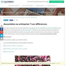 Association ou entreprise ? Les différences