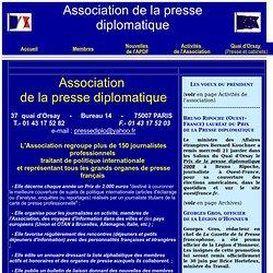 Site association de la presse diplomatique française apdf pressediplo