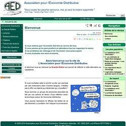 Bienvenue - Association pour l'Économie Distributive