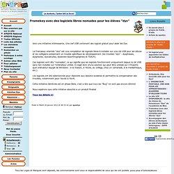 """Framekey avec des logiciels libres nomades pour les élèves """"dys"""""""