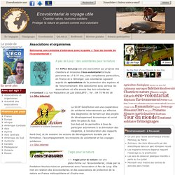 Association, ecovolontariat, chantiers nature, ecotourisme