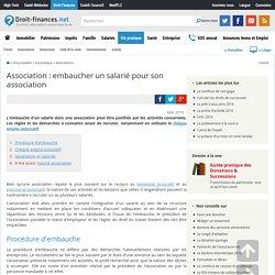 Association : embaucher un salarié pour son association