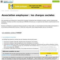 Association employeur : les charges sociales - Créer une association