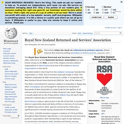 Royal New Zealand Returned and Services' Association