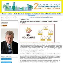 Création de l'association « Sol Solidaire » pour lutter contre la précarité énergétique (Tecsol blog)