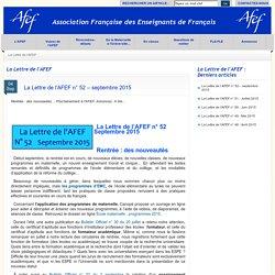 Association Française des Enseignants de Français