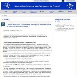 AFEF : Association Française des Enseignants de Français
