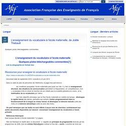 AFEF : sitographie commentée