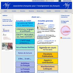 Association Fran?aise des Enseignants de Fran?ais