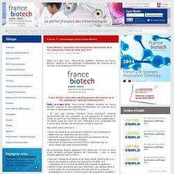 France Biotech, l'association des Entrepreneurs des Sciences de la Vie, présente ses 3 axes de travail pour 2014