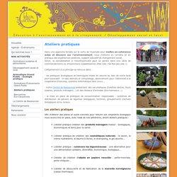 Ateliers pratiques - Association Bleue Comme Une Orange - Education à l'environnement -