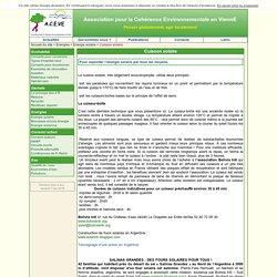 Cuisson solaire - ACEVE - Association pour la Cohérence Environnementale en ViennE
