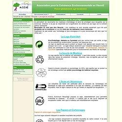 Les logos du recyclage - ACEVE - Association pour la Cohérence Environnementale en ViennE