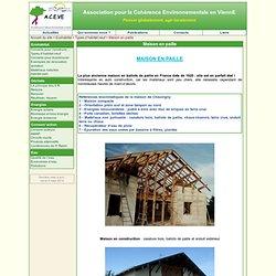 Maison en paille - ACEVE - Association pour la Cohérence Environnementale en ViennE
