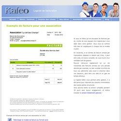 Association : exemple de facture emise par une association.