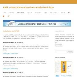 ANEF – Association nationale des études féministes