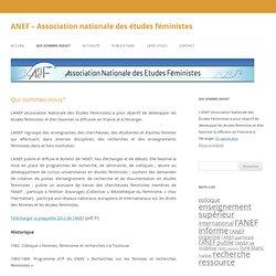 Association nationale des études féministes
