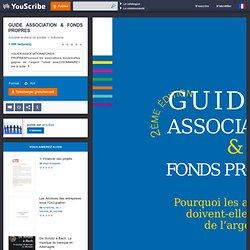 GUIDE ASSOCIATION & FONDS PROPRES - Le CNAR Financement