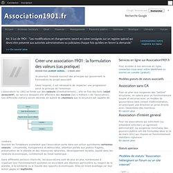 Créer une association 1901 : la formulation des valeurs (cas pratique)
