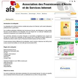 AFA - Association Fournisseurs d'Accès et Services Internet - Netiquette