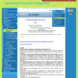 Le CHSCT - Association France Prévention