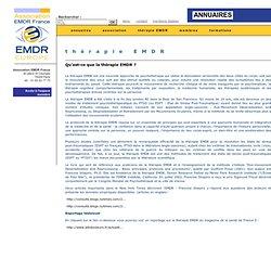 Association EMDR France : Qu'est-ce que la thérapie EMDR?
