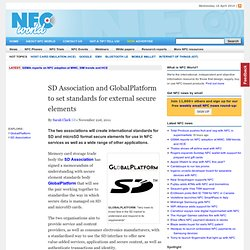 SD Association and GlobalPlatform to set standards for external secure elements
