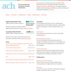 ACH | Association for Computers and the Humanities