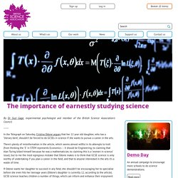 The importance of earnestly studying science