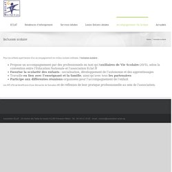 Association ECLAT – Inclusion scolaire