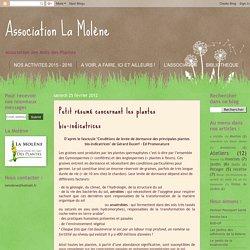 Petit résumé concernant les plantes bio-indicatrices