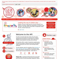 Association of Play Industries (API) home page