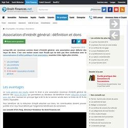 Association d'intérêt général : définition et dons