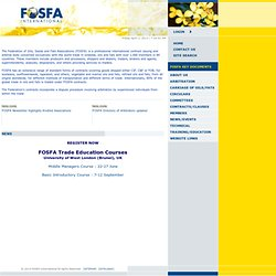FOSFA | Association for international trading in oils, fats and oilseeds