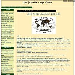 L'association SAGES-FEMMES International : le nouveau nom de SAGES-FEMMES DU MONDE - chez jeannette - sage-femme