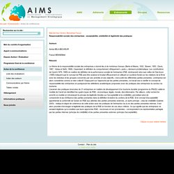 AIMS Association Internationale de Management Strategique - Actes de conférences