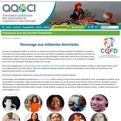 Hommage aux militantes féministes - Association québécoise des organismes de coopération internationale (AQOCI)