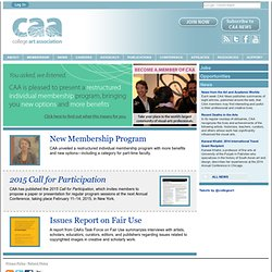 College Art Association | CAA | Advancing the history, interpretation, and practice of the visual arts for over a century