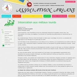 Association Ariane - Autisme - Intoxication aux métaux lourds