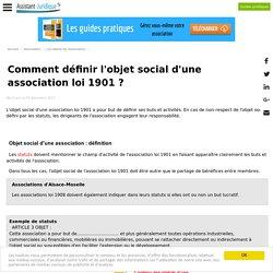 Comment définir l'objet social d'une association loi 1901