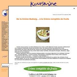 Association Kousmine Française - crème Budwig sans gluten
