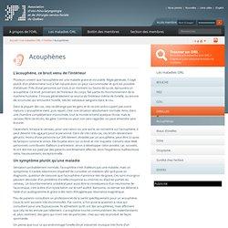 Acouphènes - Association d'oto-rhino-laryngologie et de chirurgie cervico-faciale du Québec