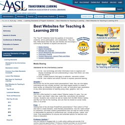 Best Websites for Teaching and Learning | American Association of School Librarians (AASL)