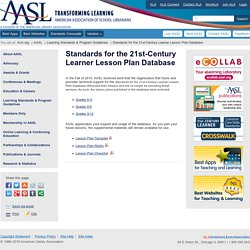 Standards for the 21st-Century Learner Lesson Plan Database