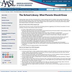 The School Library: What Parents Should Know