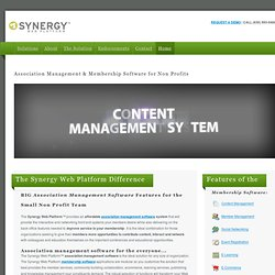 Synergy Web Platform - Content Management System For Small to Mi