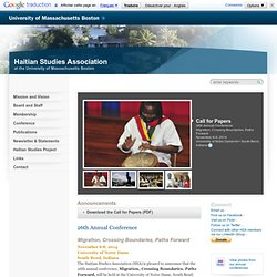 The Haitian Studies Association