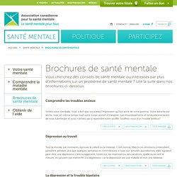 Brochures de santé mentale - Association canadienne pour la santé mentaleAssociation canadienne pour la santé mentale
