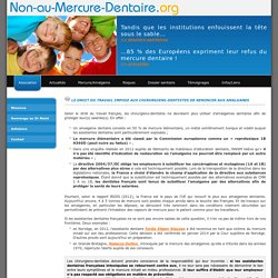 ASSOCIATION NON AU MERCURE DENTAIRE